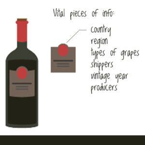 red wine label