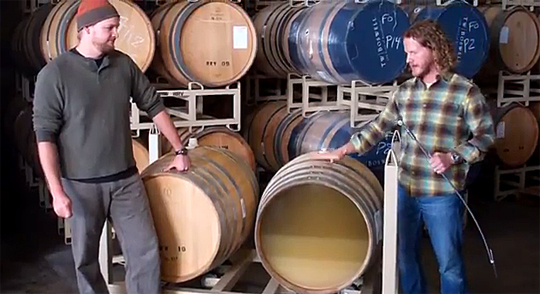 Joe with barrels