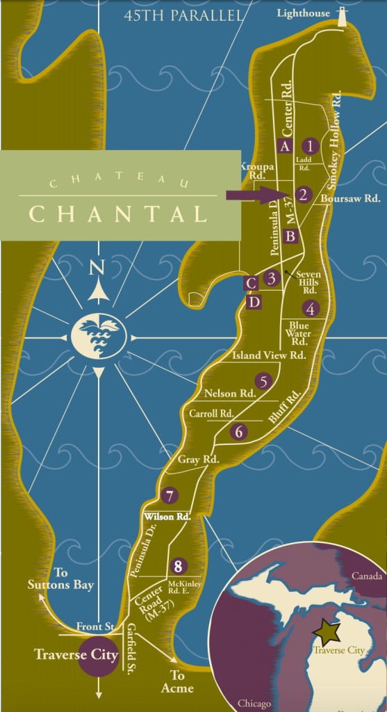 Pennisual wineries map