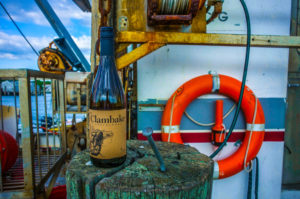 claim bake wine pic on dock post